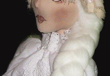 """A textile boudoir doll """"Mary"""""""