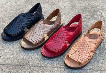 Women's Classic Leather Huarache Sandals   Best-Selling Mexican Huaraches