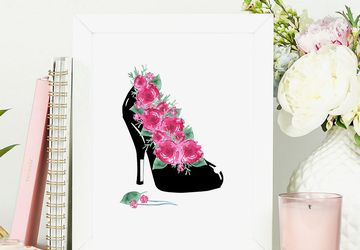 Fashion wall art, high heels art.