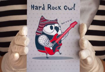"Postcard ""Hard Rock Owl"""
