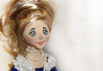 "A textile boudoir doll ""A princess"""