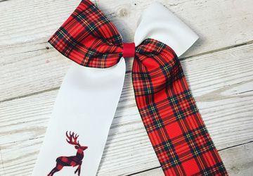 Tartan cheer bow
