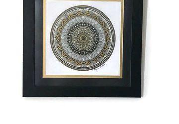 mandala drawing, boho wall art, mandala wall art, mandala art, meditation art, yoga art, boho decor, mandala decor, wall art, art, mandala