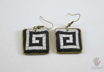 Portuguese Cobblestone Squared Earrings - BQDC-5-28
