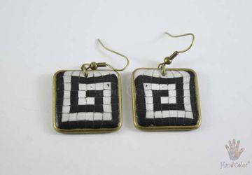 Portuguese Cobblestone Squared Earrings - BQDC-5-28