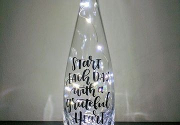 Start Each Day With a Grateful Heart Wine Bottle Lamp
