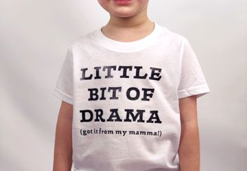 Little Bit Of Drama (got it from my mamma!) T-Shirt • Unisex T-Shirt • Multiple colors available!