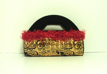 Red,Black and Gold large Clutch