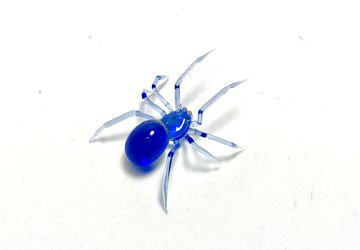 Blue Crystal Spider - Borosilicate Glass Sculpture by Rafael Glass