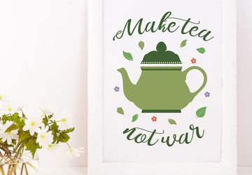 Teapot wall art, kitchen decor