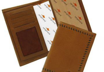 A leather cover for driver's license CANGURIONE 3307-004 DP Tan