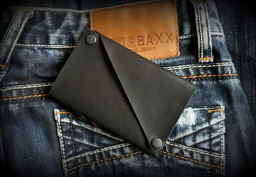 A wallet made of genuine leather