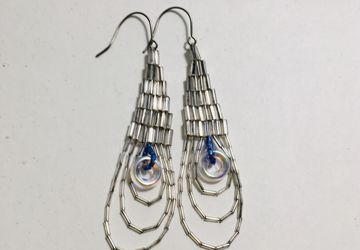 Spirit Micro mirror beaded earrings
