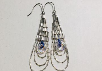 Spirit Micro mirror beaded earrings