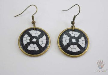 Portuguese Cobblestone Round Earrings - BCDC-4-28