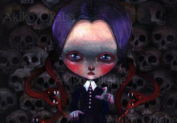Gothic Halloween Painting Art