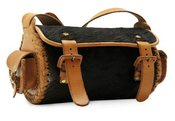"Handmade women's leather bag with fur ""Mexico 0043-FM"""