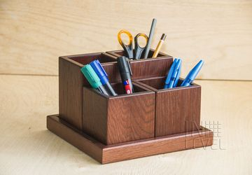 A holder for stationery (mahogany color)
