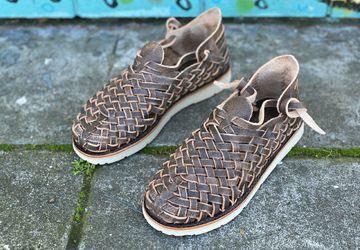 Men's Leather Huarache Boots | Clearance Sale
