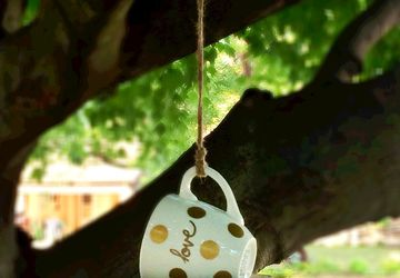 Teacup Bird Feeder, Tea Cup Bird Feeder, birdfeeders, hanging bird feeder