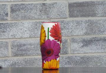 Handcrafted Decoupage Flower Vase