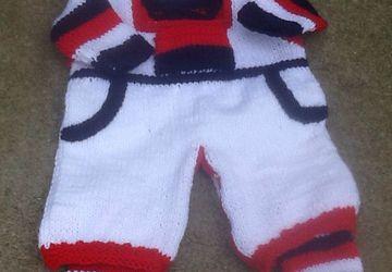 Patriotic newborn overall set