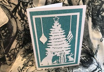 Oh Christmas Tree papercutting template