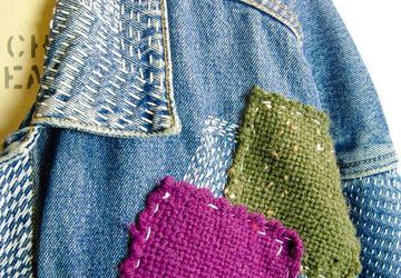 Shibaguyz: Visible Mending on Crochet & Hand Knit Fabric