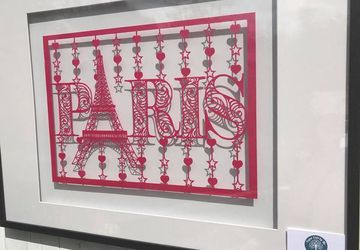 Paris in Love | A3 or A4 papercutting template | Birthday, Christmas, Anniversary, Gift for him, Gift for her | Commercial Use