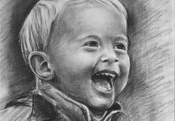 Child Drawing Portrait from Photo / Birthdays Gift / holiday / Her Home Decor Gift / Gift for him / Original Drawing / Art /