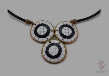 Portuguese Cobblestone Indigo Necklace - CIDC-2-28