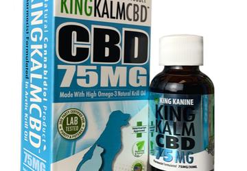 CBD for Dogs | 75 mg King Kalm™ CBD | 30-Day Money-Back Guarantee