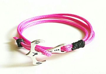 Anchor wrap bracelet