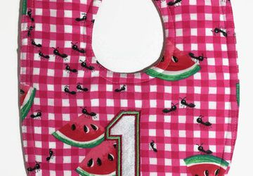 Watermelon 1st birthday bib, cake smash bib