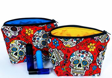 Sugar Skull Essential Oil Bag
