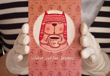 "Postcard ""Winter, Cofe, Dreams"""