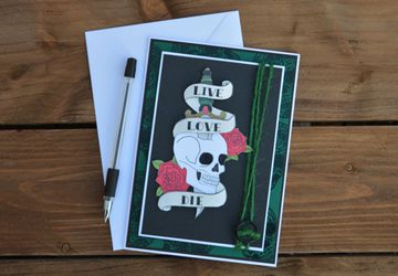 Skull And Dagger Greetings Card