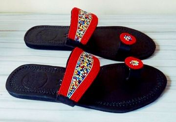 African leather sandals |beaded sandals|sandals