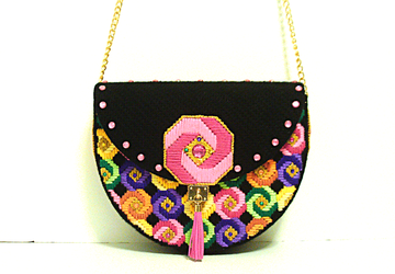 Candy Color Large Jeweled Handbag
