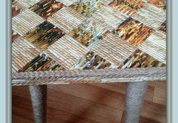 "A stool ""Lava"""