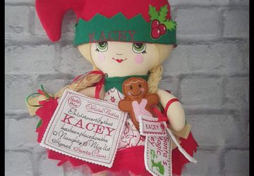 Christmas  personalised  elf.
