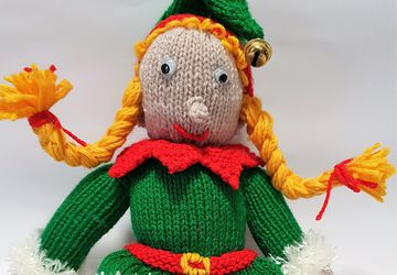 Christmas Elf Knitted Toy - Bernadette