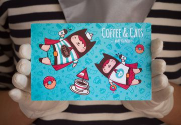 "Postcard ""Coffee & Cats"""