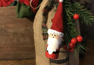 Wine Cork Santa | Cork Christmas Ornament | Santa Ornament | Wine lover gift | Christmas in july | Wine cork santa ornament | Santa Ornie