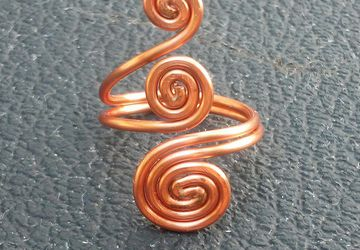 Triple Swirl Wire Wrapped Ring