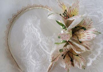 Alstroemeria headband