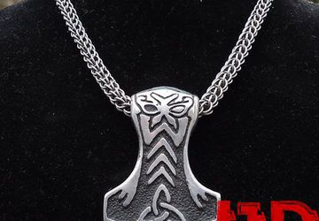 Thor's Hammer - Viking Necklace - Celtic Necklace - Odin Necklace - Viking Jewelry - Viking Gifts -  Thor's Hammer Necklace - Viking Pendant