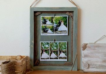 Rustic Photo Frame, Shadow Box Picture Frame
