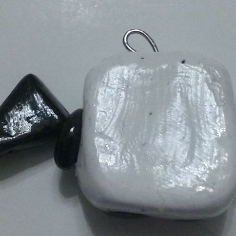 adorable charm clay white cute blackfriday black flag polymerclay creature kawaii