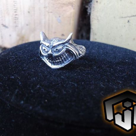 golden fantasy silver ring cheshire alice wonderland custom rings jewelry cat